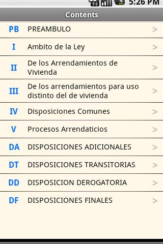 Spanish Tenancies Act - screenshot