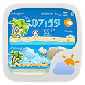 COOLBEACH THEME GO WEATHER icon