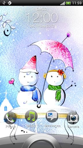 恋に雪だるまライブ壁紙