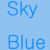 Sky Blue Theme for kakao