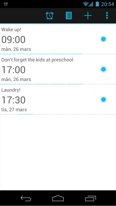 myClock 2 - Alarm Clock- screenshot
