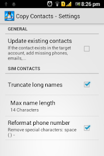 Copy Contacts - screenshot thumbnail