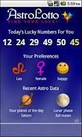 Screenshot of Astro Lotto
