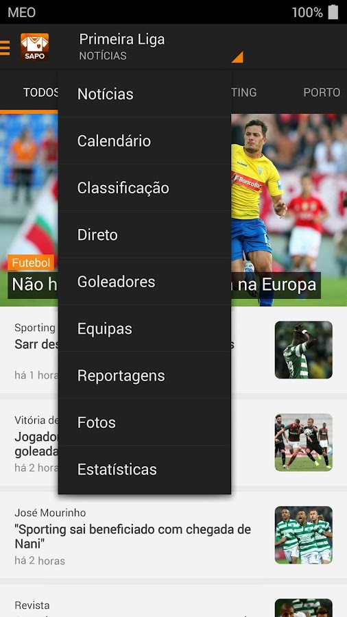 SAPO Desporto- screenshot