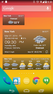 Weather & Clock Widget Ad Free - screenshot thumbnail