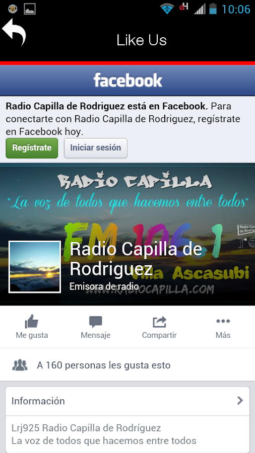 Radio Capilla- screenshot