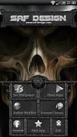 Screenshot of Next Launcher Skull Theme