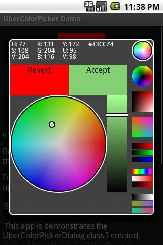 UberColorPicker Demo- screenshot