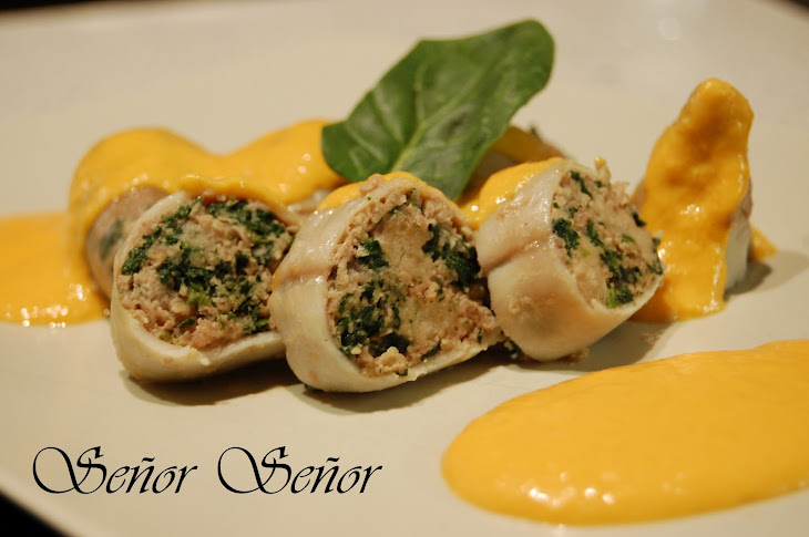 Beef and Spinach-Stuffed Squid Recipe