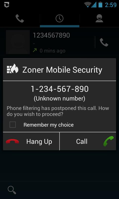 Zoner Mobile Security- screenshot