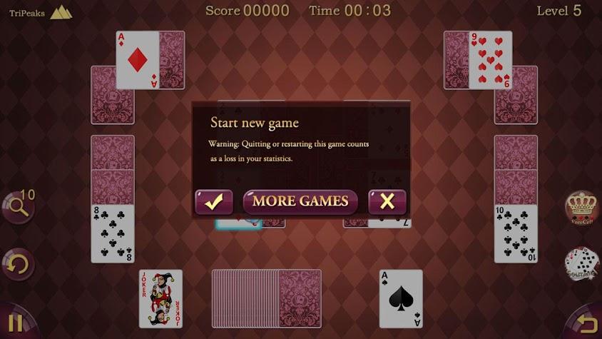 TriPeaks Solitaire Screenshot