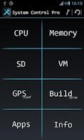 Screenshot of System Control Pro