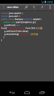 Java Editor CR - náhled
