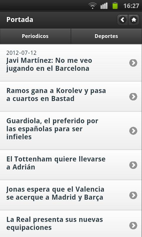 Noticias Deportivas (España) - screenshot