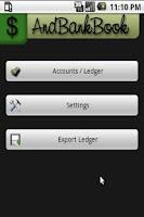 Screenshot of AndBankBook