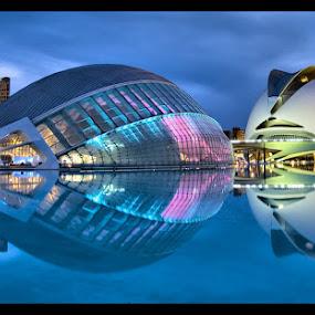 Valencia, Spain by Jerzy Szablowski - Travel Locations Landmarks ( cool, tourist, pwclandmarks, blue, valencia, calatrava, spain )