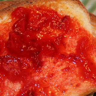 White Bread and Strawberry Freezer Jam