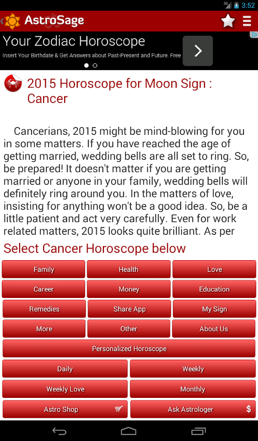 Horoscope 2015- Astrology 2015 - screenshot