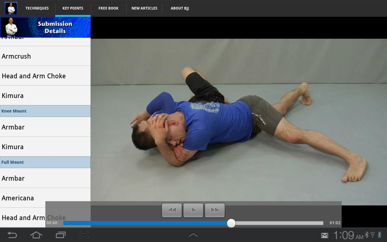 Submissions for BJJ & MMA - screenshot