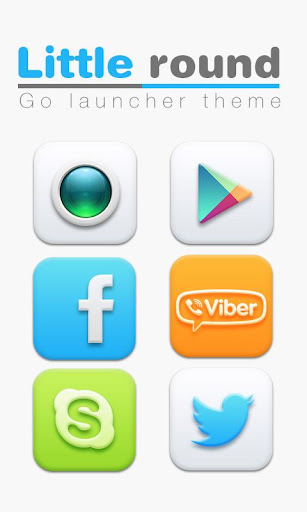 Little Round GO Launcher Theme