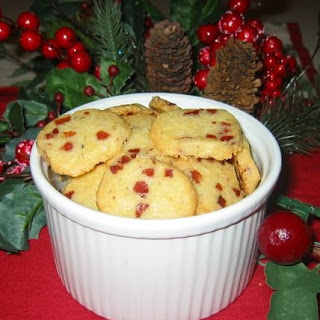 Cheddar & Prosciutto Shortbread Cookies.