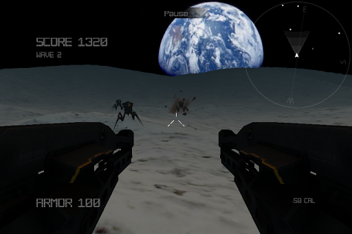 Alien Insect Shooter on Moon