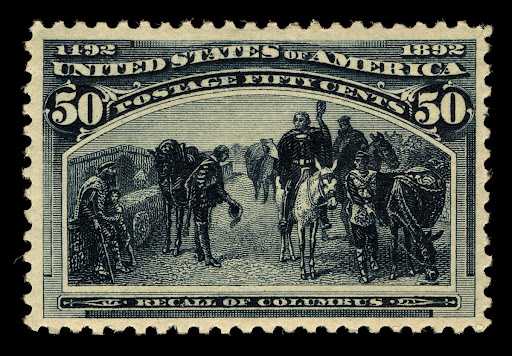 50c Recall of Columbus stamp