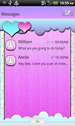 PastelBubbles4U GO SMS THEME