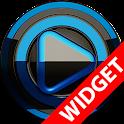 Poweramp widget BLACK BLUE icon