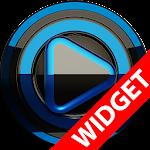 Poweramp widget BLACK BLUE v2.01