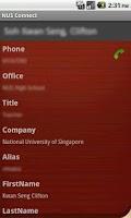 Screenshot of NUS Connect