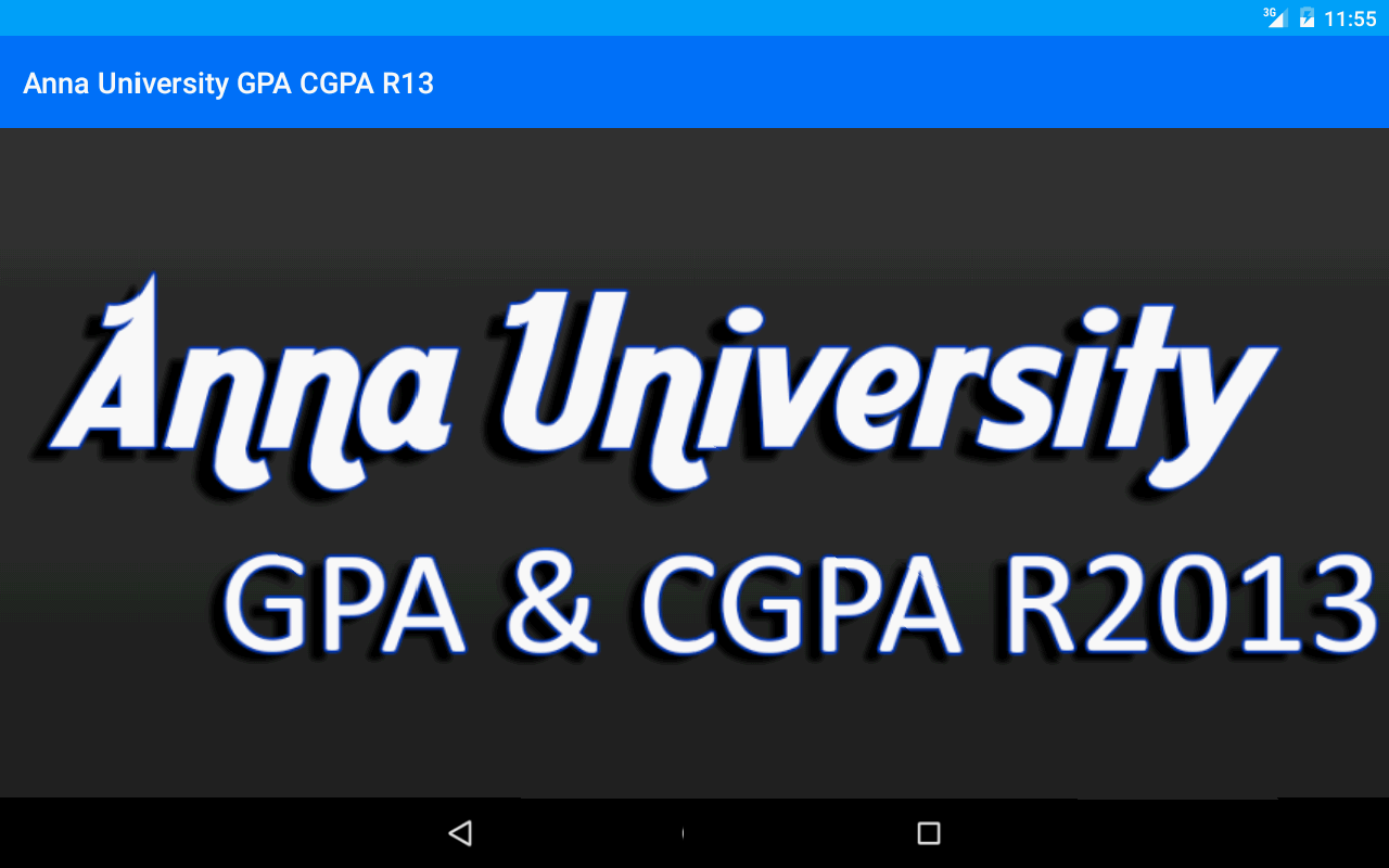 Anna University GPA CGPA - screenshot