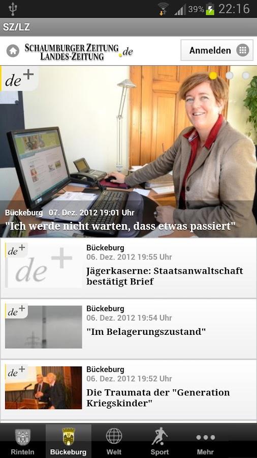 Schaumburger Zeitung - SZ/LZ - screenshot