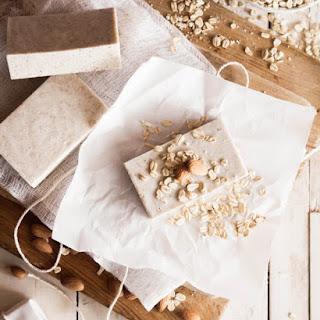 Homemade Oatmeal Almond Soap