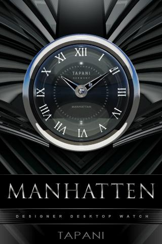 MANHATTEN STYLE CLOCK WIDGET