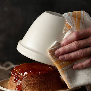 Steamed Ginger Pudding with Apricot Jam.