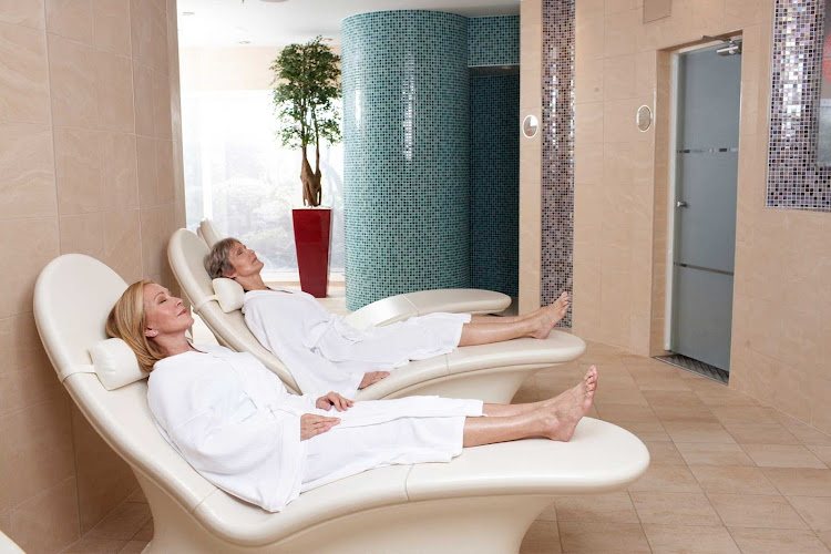 Vitality Spa's Thermal Suite aboard Oasis of the Seas has heated lounge chairs, saunas and steam rooms.