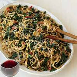 Whole Wheat Spaghetti with Anchovies and Kale.