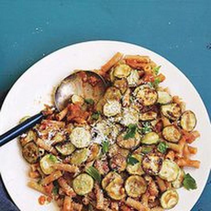 Ratatouille Riggies: Eggplant Marinara with Rigatoni and Zucchini Recipe