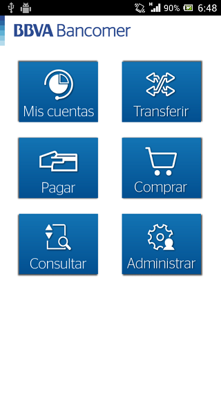 Bancomer móvil - screenshot