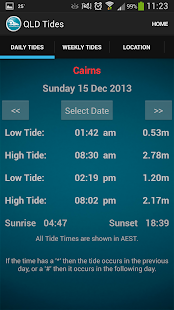 Queensland Tide Times - screenshot thumbnail
