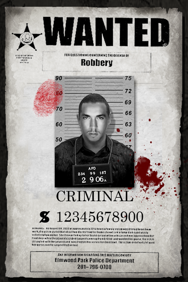 iWANTED Most Wanted Alert Android Apps on Google Play – Missing Poster Generator