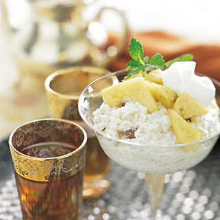 Pineapple and Banana Couscous Pudding.