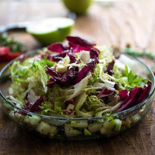 Apple and Bitter Lettuces Salad
