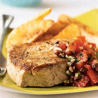 Seared Mediterranean Tuna Steaks.