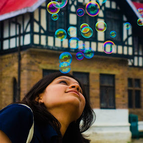 Dreams! by Abhishek Shirali - People Street & Candids ( dreaming, life, future, 50mm, india, soap bubbles, shimla, portrait )