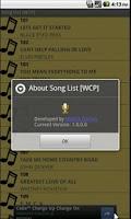 Screenshot of Song List [WCP]