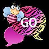 GO SMS - Cute Pastel Zebra