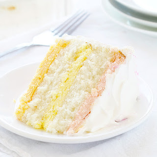 Spring Cheesecake Cake (raspberry, lemon & orange)
