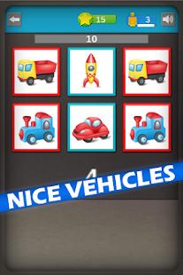 Vehicles Memory Rush